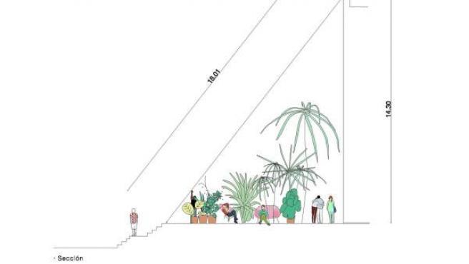 Boceto del proyecto de Langarita & Navarro y Jerónimo Hagerman