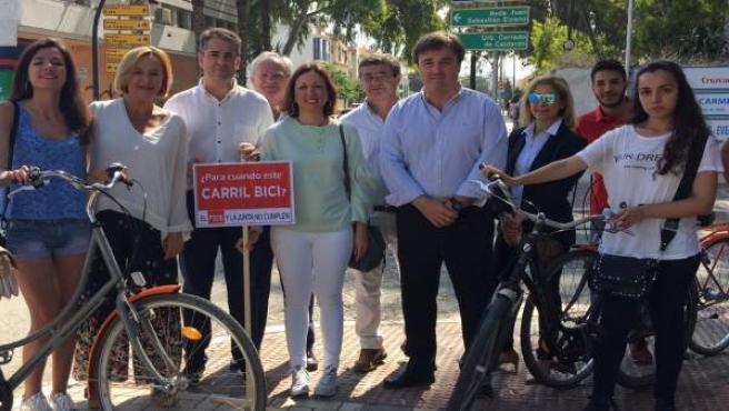 El PP reivindica carriles bici en Málaga capital
