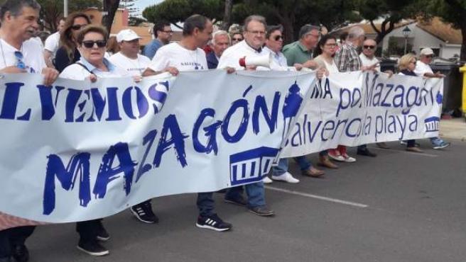 Protesta en Mazagón
