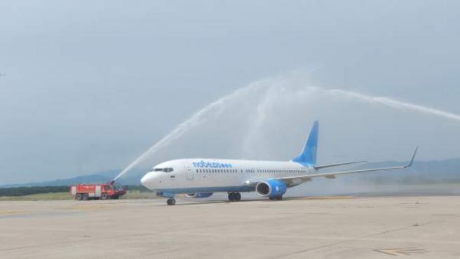 Inauguración de una ruta comercial en el Aeropuerto de Girona