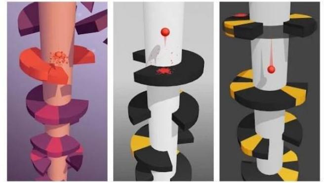 Imágenes del juego Helix Jump.