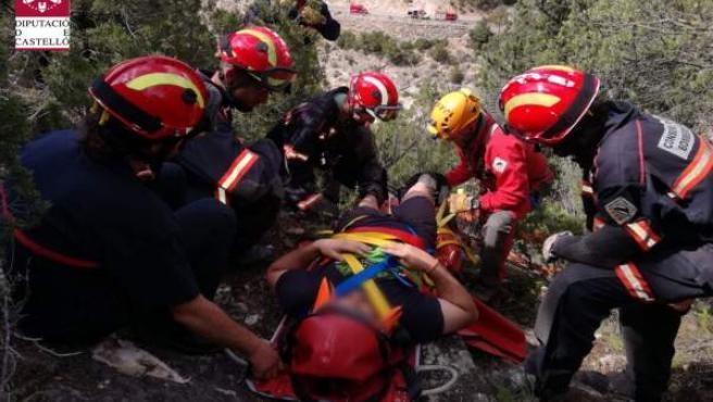 Rescate de un hombre en Sorita (Castellón)