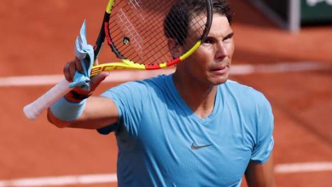 Rafa Nadal, tras su partido ante Gasquet en Roland Garros.