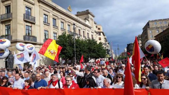 Manifestación en Pamplona contra la política lingüística del Gobierno de Navarra