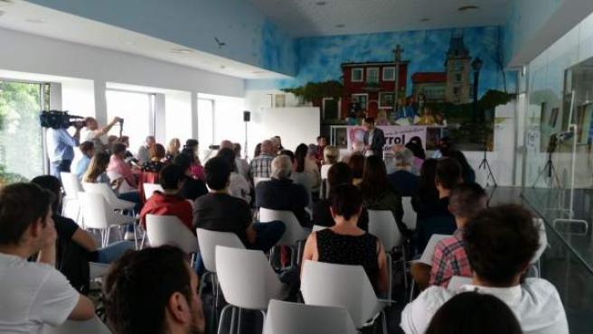 Tercer aniversario de Ferrol en Común con el alcalde, Jorge Suárez