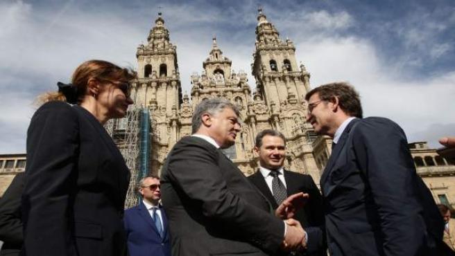 Feijóo recibe al presidente de Ucrania