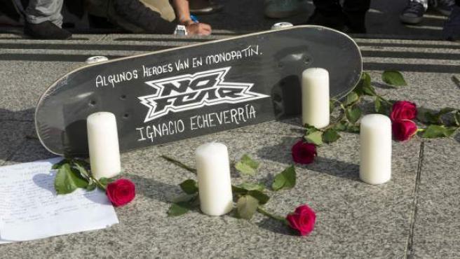 Homenaje a Ignacio Echeverría en Londres tras los atentados yihadistas donde falleció el español.