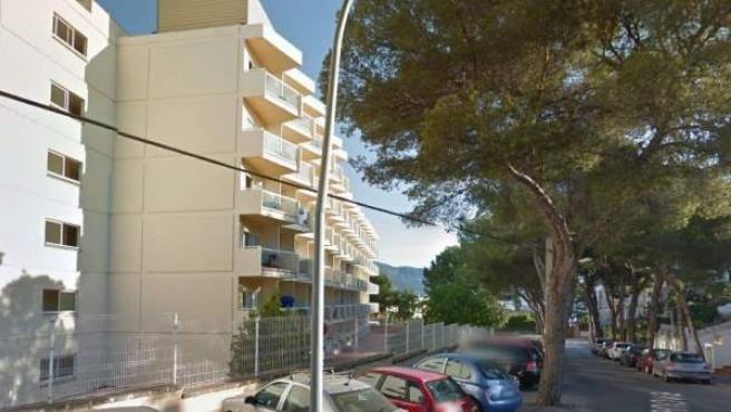 Imagen de unos apartamentos turísticos en Magaluf, Mallorca.