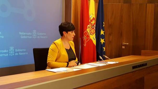 María Solana en rueda de prensa