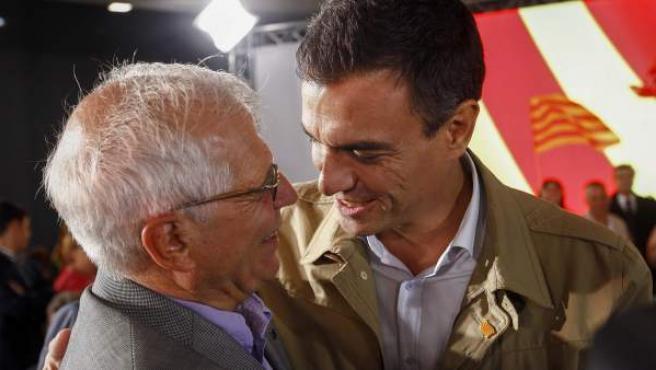 Pedro Sánchez y Josep Borrell, en 2015.