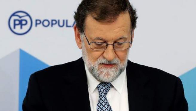 El expresidente del Gobierno y líder del PP, Mariano Rajoy.
