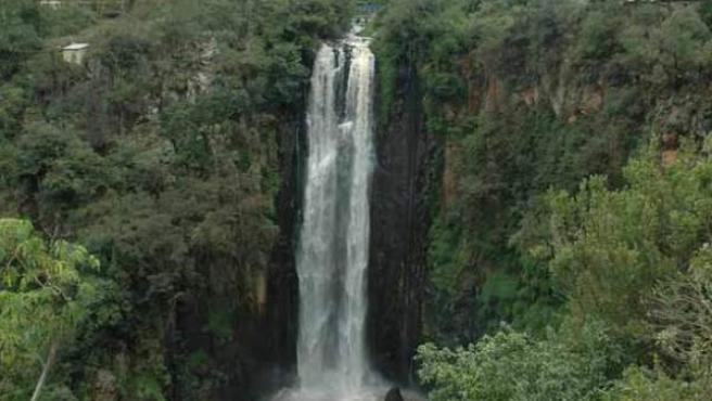 Cataratas Thompson, en el parque nacional de Aberdares.