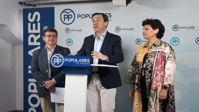 Juan José Matarí, Rafael Hernando y Carmen Navarro (PP)