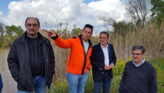 Lambán y Sánchez Quero visitan Quinto.