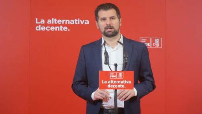 Valladolid. Secretario autonómico del PSOE, Luis Tudanca