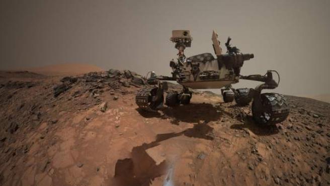 La misión espacial Curiosity en su excursión por Marte