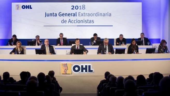 Junta de Accionistas de OHL.