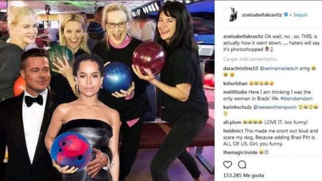 Las protagonistas de Big Littles Lies (Reese Witherspoon, Meryl Streep, Nicole Kidman, Shailene Woodley y Zoë Kravitz) hicieron un afterwork en el que no faltaron los bolos y los montajes de photoshop.