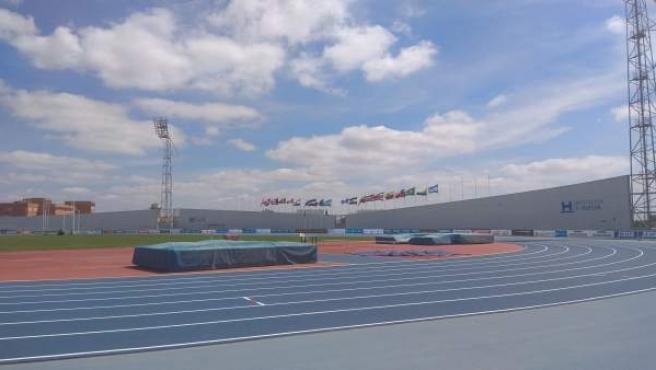 Estadio Iberoamericano de Atletismo 'Emilio Martín' en Huelva.