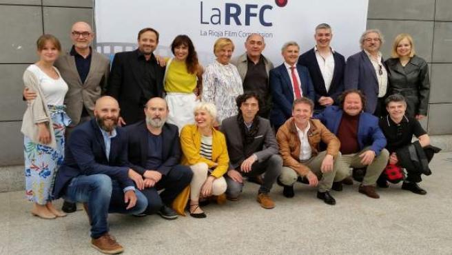 Consejera riojana Leonor González presenta con actores La Rioja Film Commission