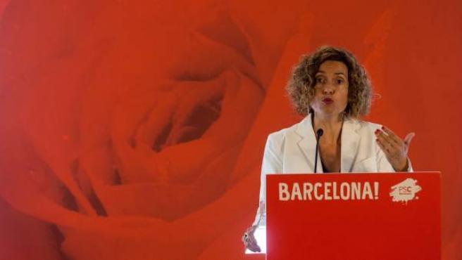 La nueva ministra de Política Territorial y Función Pública, Meritxell Batet, en la inauguración de la jornada 'Reforma constitucional, federal y con derechos'.