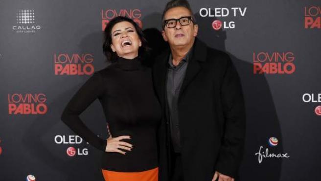 Los cómicos Silvia Abril y Andreu Buenafuente, el pasado mes de marzo en un estreno en Madrid.
