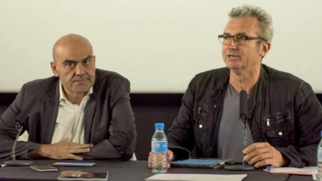 Mariano Barroso (derecha), nuevo 0presidente de la Academia de las Artes y las Ciencias Cinematográficas de España.