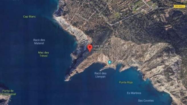 Zona de la Torre de Es Savinar, en la isla de Ibiza.