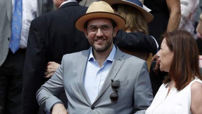 El ministro de Cultura y Deporte, Màxim Huerta, en la final de Roland Garros que enfrenta a Rafa Nadal con el austriaco Dominic Thiem.