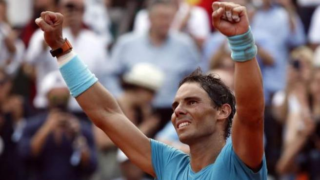 Rafa Nadal, nada más ganar su undécimo Roland Garros.