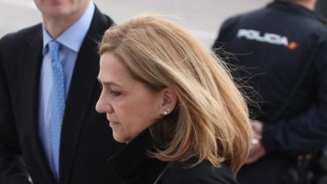 La Infanta Cristina en el juicio por el caso Nóos.