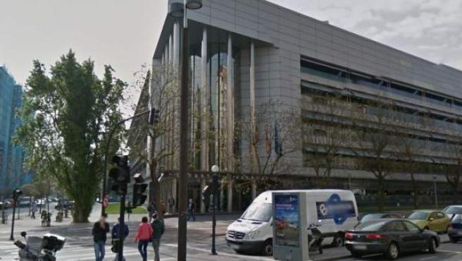 Una imagen del Palacio de Justicia de Vitoria, sede de la Audiencia Provincial de Álava.