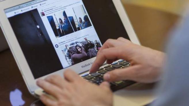 Redes sociales en un ordenador.