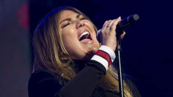 Amaia Montero, en un concierto en Madrid.