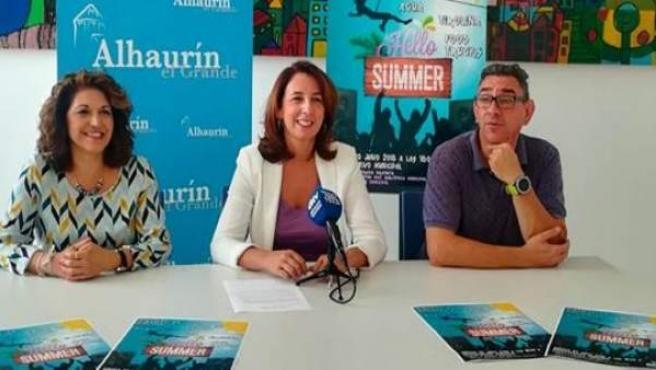 Alcaldesa de Alhaurín el Grande Antonia Toñi Ledesma en rueda de prensa