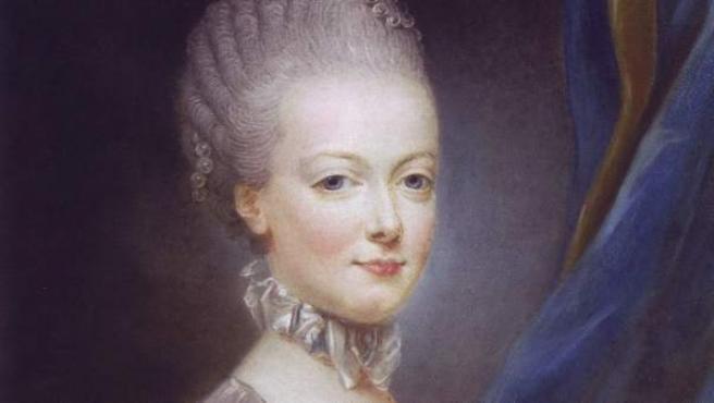 Retrato de juventud de la reina francesa María Antonieta.