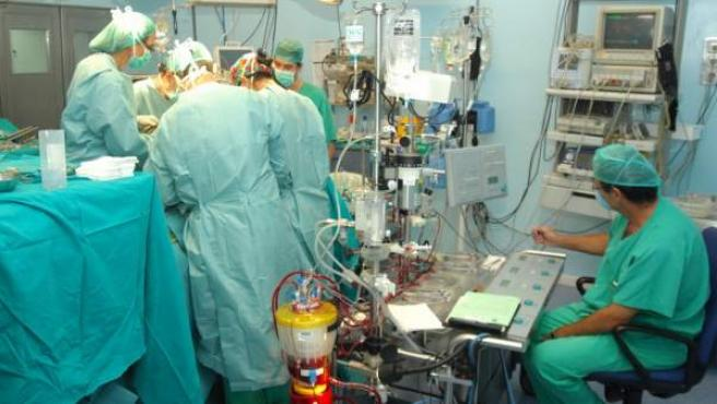 Una operación quirúrgica.