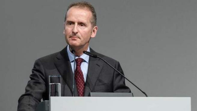 El presidente mundial del grupo automovilístico alemán Volkswagen, Herbert Diess, en Berlín, el 3 de mayo del 2018.