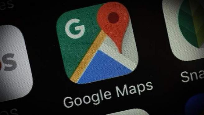 Imagen de la aplicación de Google Maps en un móvil.
