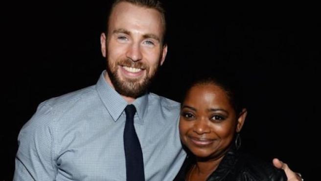 Chris Evans echa la bronca a Octavia Spencer por su escueta felicitación de cumpleaños