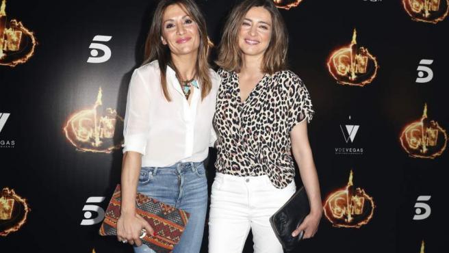 <p>La presentadora del debate de 'Supervivientes' Sandra Barneda y su novia, la colaboradora Nagore Robles, no se separaron durante la fiesta tras la final del reality de Telecinco.</p>