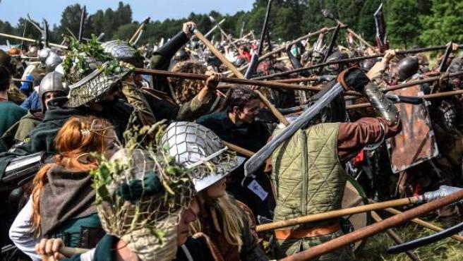 Un momento de la recreación de la Batalla de los Cinco Ejércitos que aparece en la novel 'El Hobbit' de J.R.R. Tolkien.