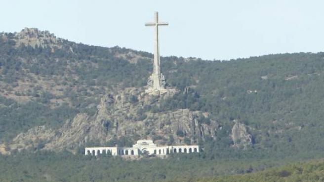 Imagen del Valle de los Caídos, situado en el valle del Cuelgamuros, en San Lorenzo del Escorial.