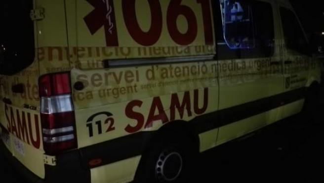Una ambulancia del SAMU.
