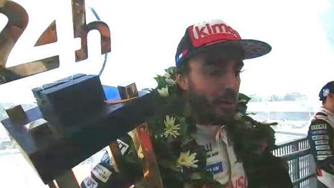 Declaraciones de Alonso en Le Mans.