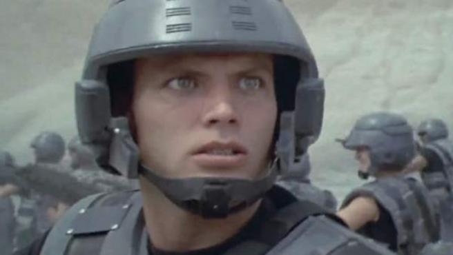 Una escena de 'Starship Troopers'.