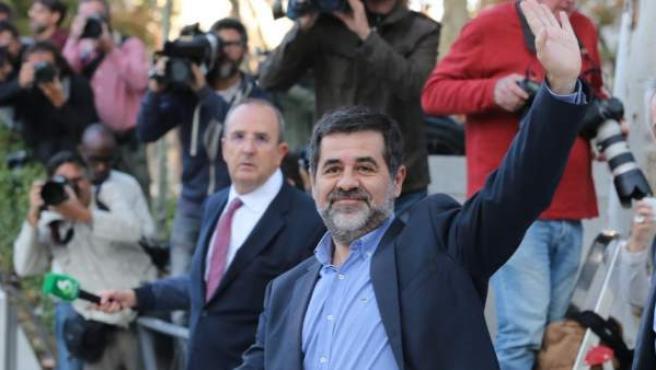 Jordi Sánchez acudiendo a declarar a la Audiencia Nacional.