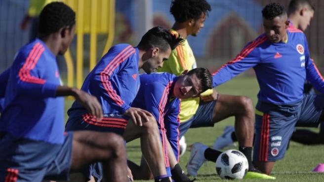 Entrenamiento de la selección colombiana.