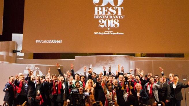 Un momento de la gala de The World's 50 Best Restaurants 2018.