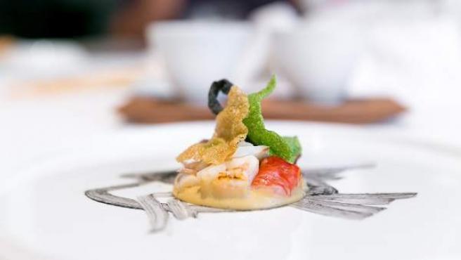 Uno de los platos ofrecidos en el restaurante Osteria Francescana, en Módena (Italia), en una imagen de archivo.